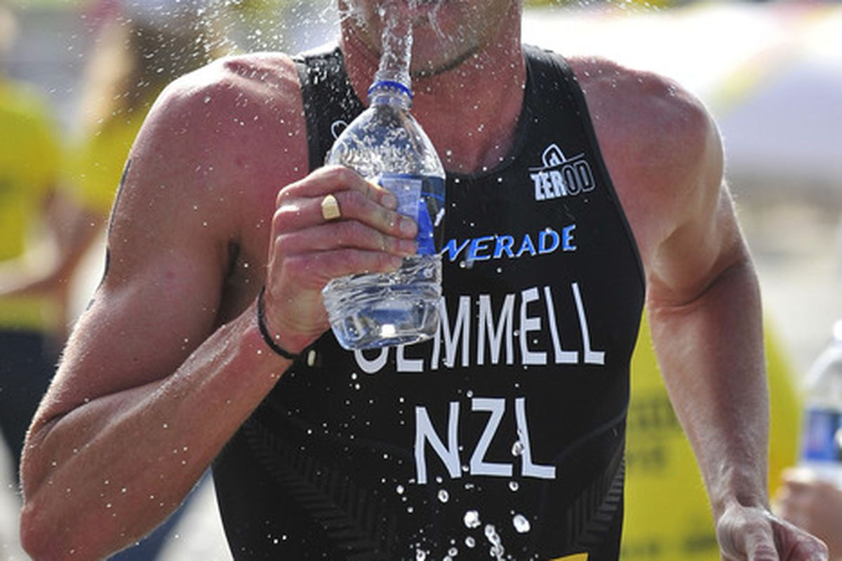 I want this to happen to my face every time I run in the heat. (Photo by Rich Cruse/ITU via Getty Images)