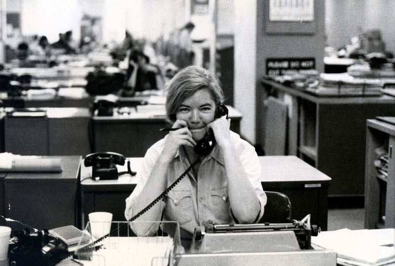 Molly Ivins as seen in Raise Hell.