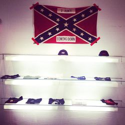 One of the store's controversial confederate flags.