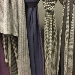 Cashmere scarves, $75 (from $300)
