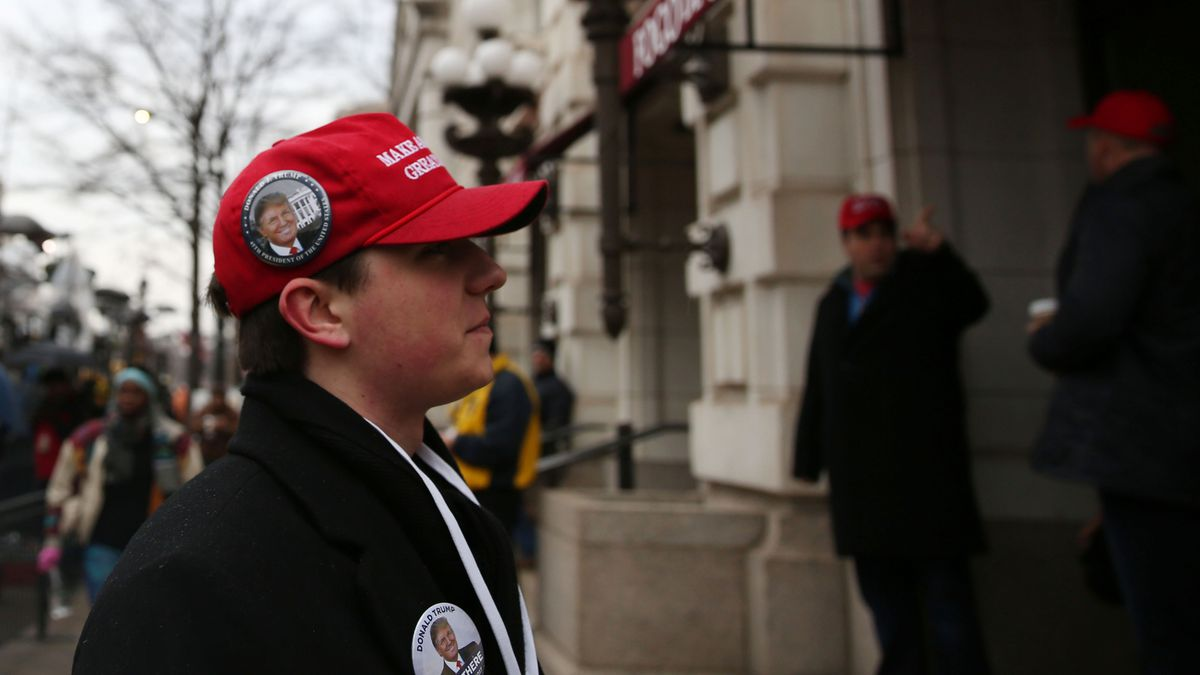 A young man in a MAGA hat. Photo  Anadolu Agency Getty Images aaf6418f2174