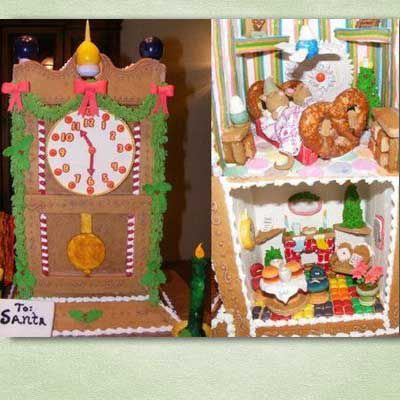 Gingerbread clock tower.
