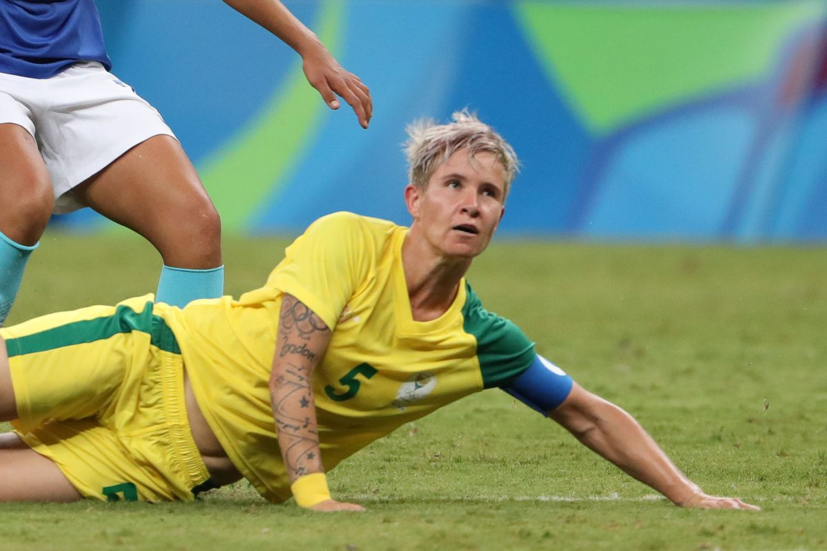 Olympics: Football-Women's Team-1st Round Group E-South Africa (RSA) vs Brazil (BRA)