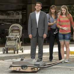 """Steve Carell stars as Ben Cooper, Jennifer Garner as Kelly Cooper, Elise/Zoey Vargas as Baby Trevor, Kerris Dorsey as Emily Cooper and Ed Oxenbould as Alexander Cooper in """"Alexander and the Terrible, Horrible, No Good, Very Bad Day."""""""