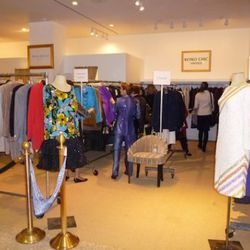 The ritzy Palm Beach section featuring the remaining Chanel apparel