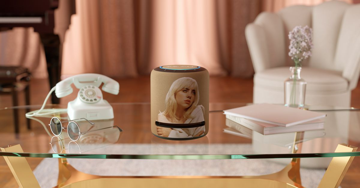 Amazon's new limited-edition Echo Studio features the face of Billie Eilish