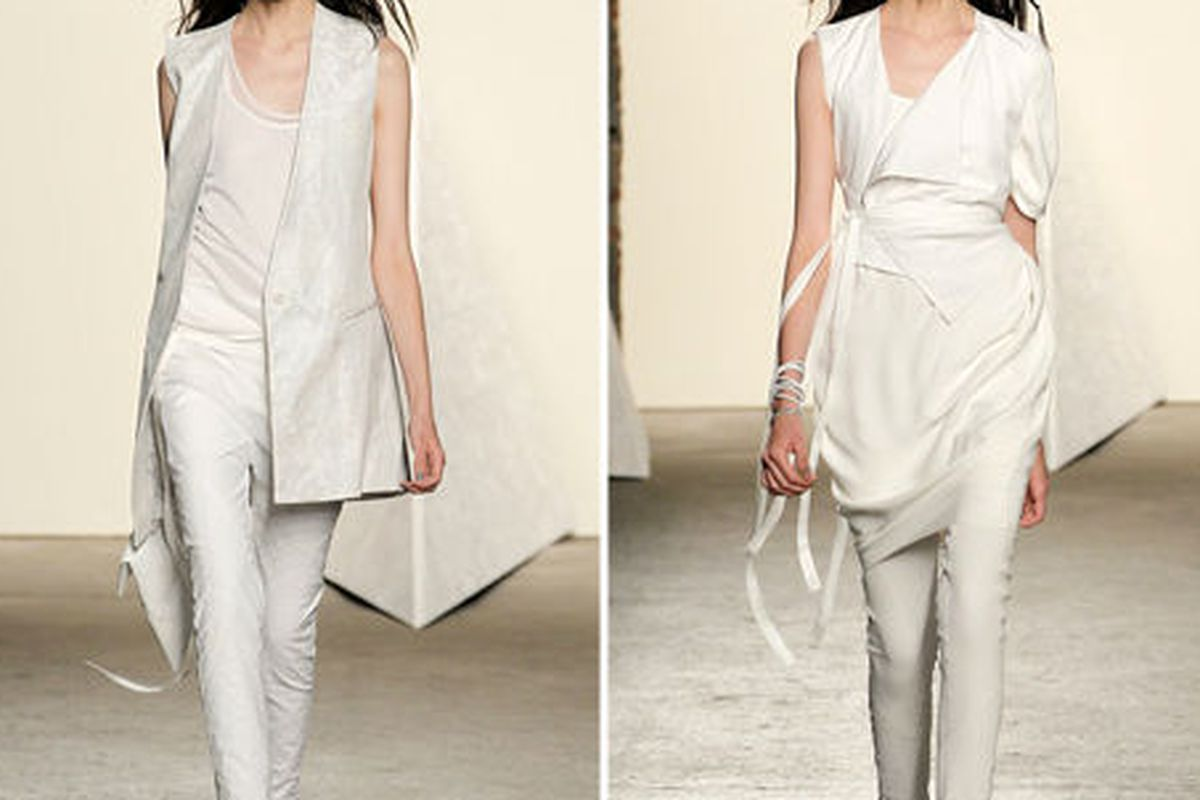 """Two images from Tess Giberson's <a href=""""http://www.tessgiberson.com/#/collections/spring-2013/looks/"""">spring 2013 runway</a>"""