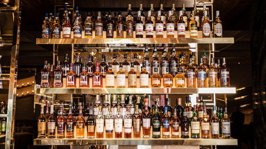 A wall of scotch