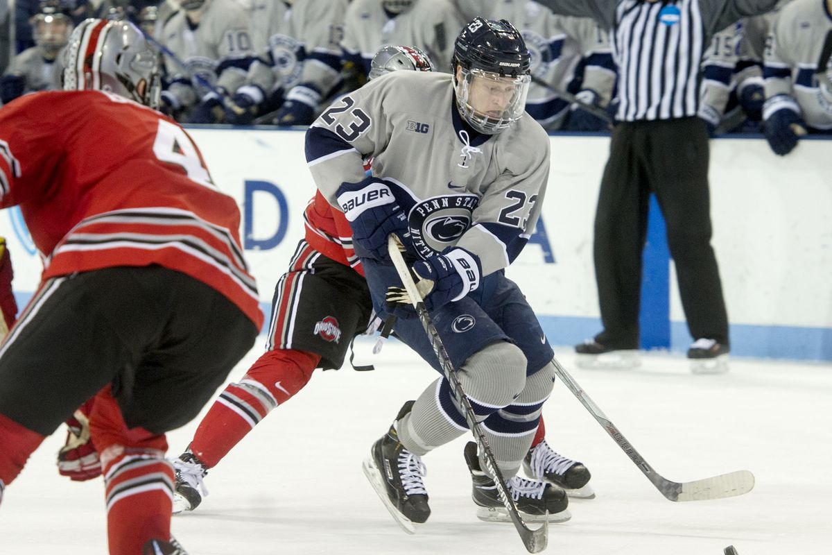 no. 6 ohio state men's hockey knocked off by no. 13 penn state, 5-2