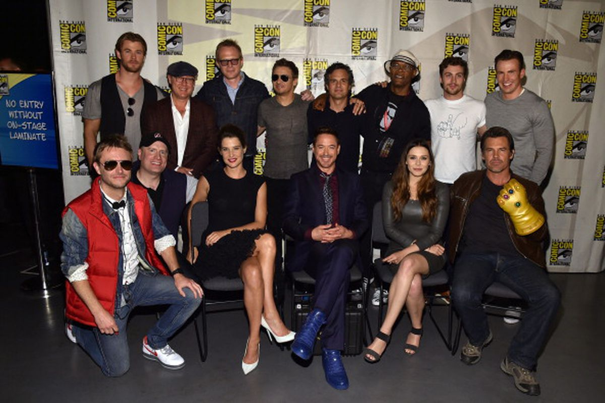 The Avengers cast and Chris Hardwick