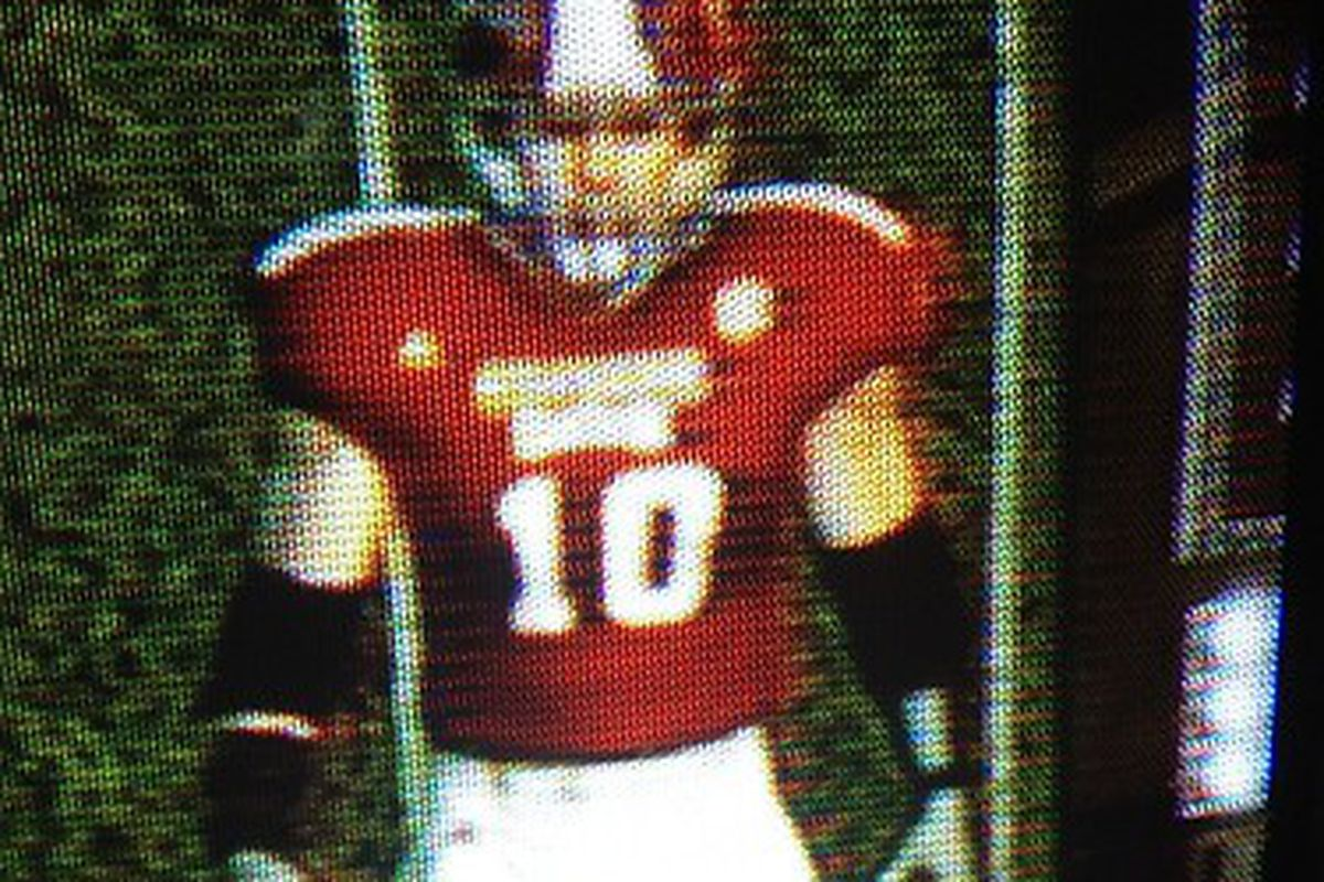 The front of the white unis