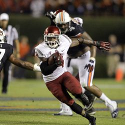 Teondray Caldwell found more running room on Saturday than just about any time last year