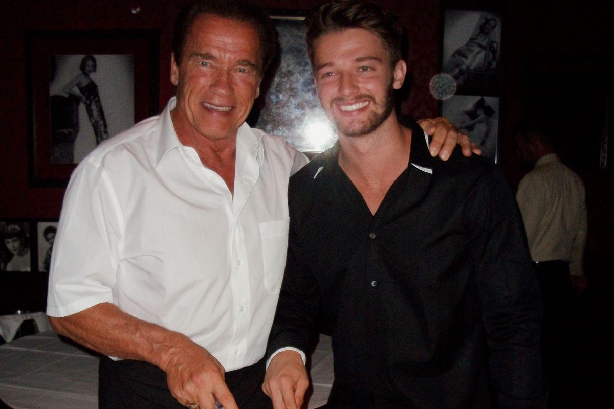 Arnold Schwarzenegger and his son Patrick