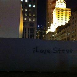 """Outside of the Fifth Avenue store. Photo by <a href=""""http://twitter.com/#!/ABCWorldNews/status/121783346090098688"""" rel=""""nofollow"""">@ABCWorldNews</a>"""