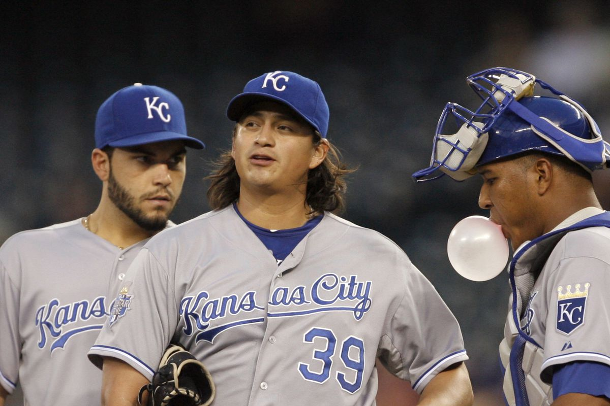 Hosmer: Damn your hair is awesome. Mendoza: I know.
