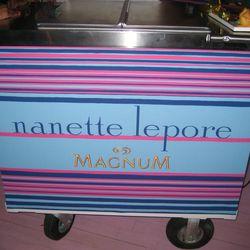 Nanette Lepore Magnum ice cream cart