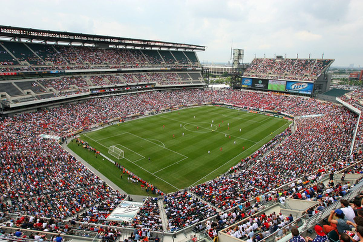 PHILADELPHIA - MAY 29 : A view of the crowd during a pre-World Cup warm-up match between the United States and Turkey at Lincoln Financial Field on May 29, 2010 in Philadelphia, Pennsylvania. (Photo by Hunter Martin/Getty Images)