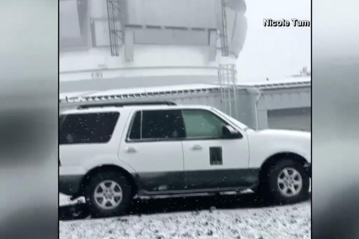 As CBS News reported, summits for the volcanos Mauna Kea and Mauna Loa (known as Big Island) have received an early coat of snow, with forecasters predicting eight inches for the week.