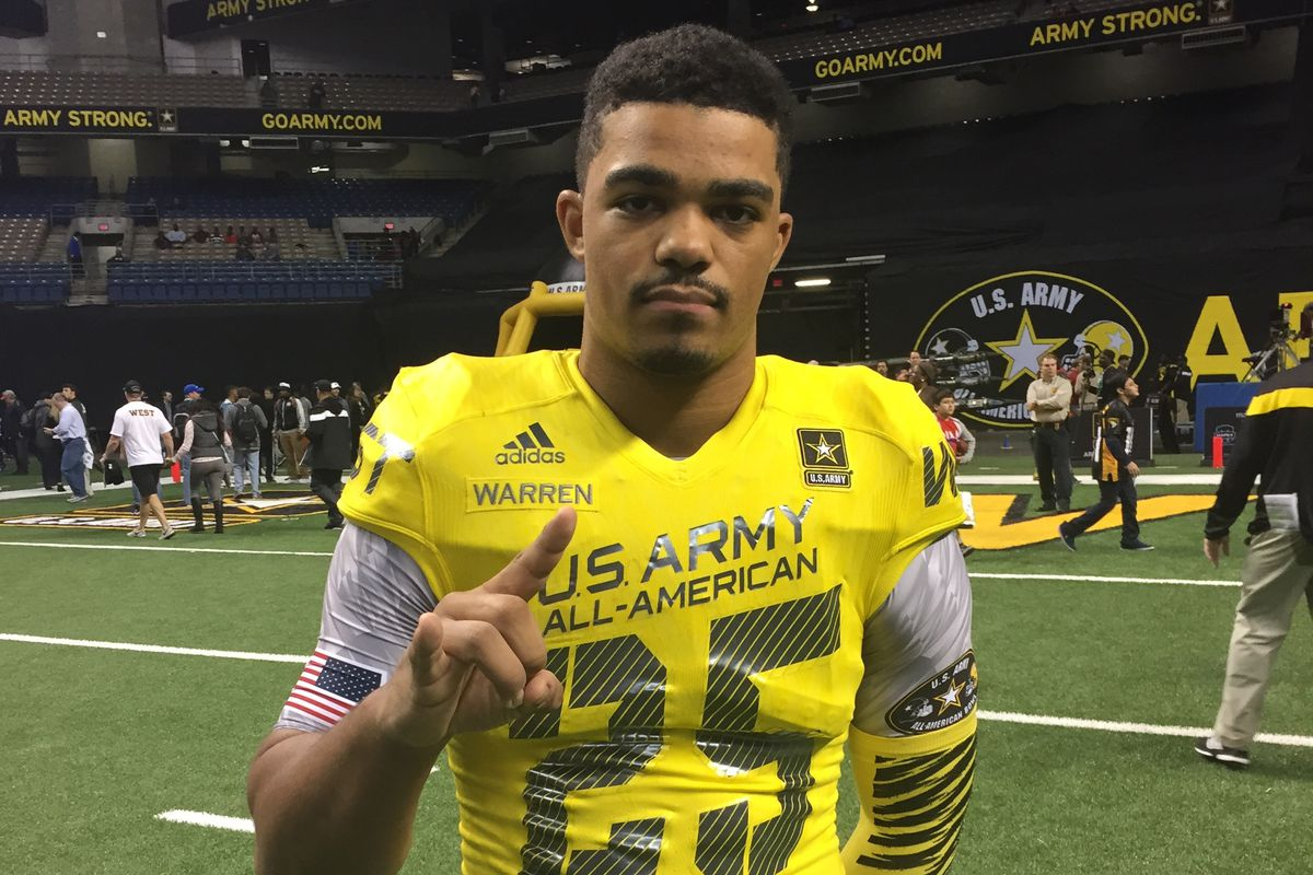 Chris Warren after the Army Bowl