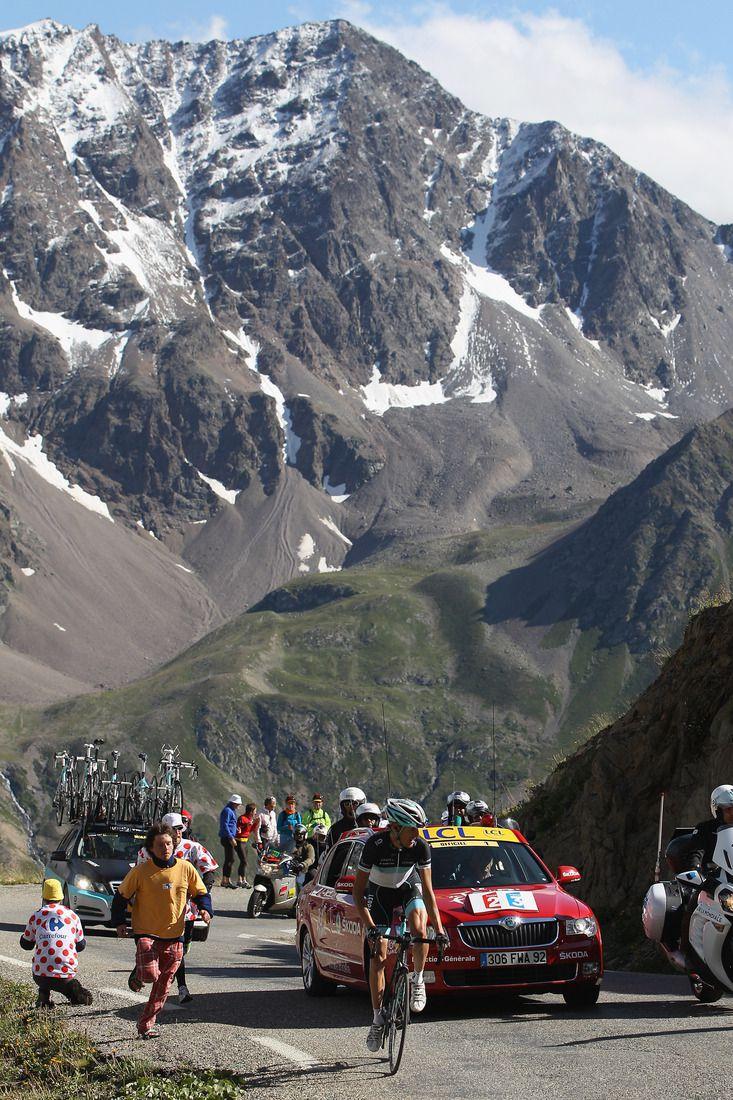 Schleck climbs Galibier