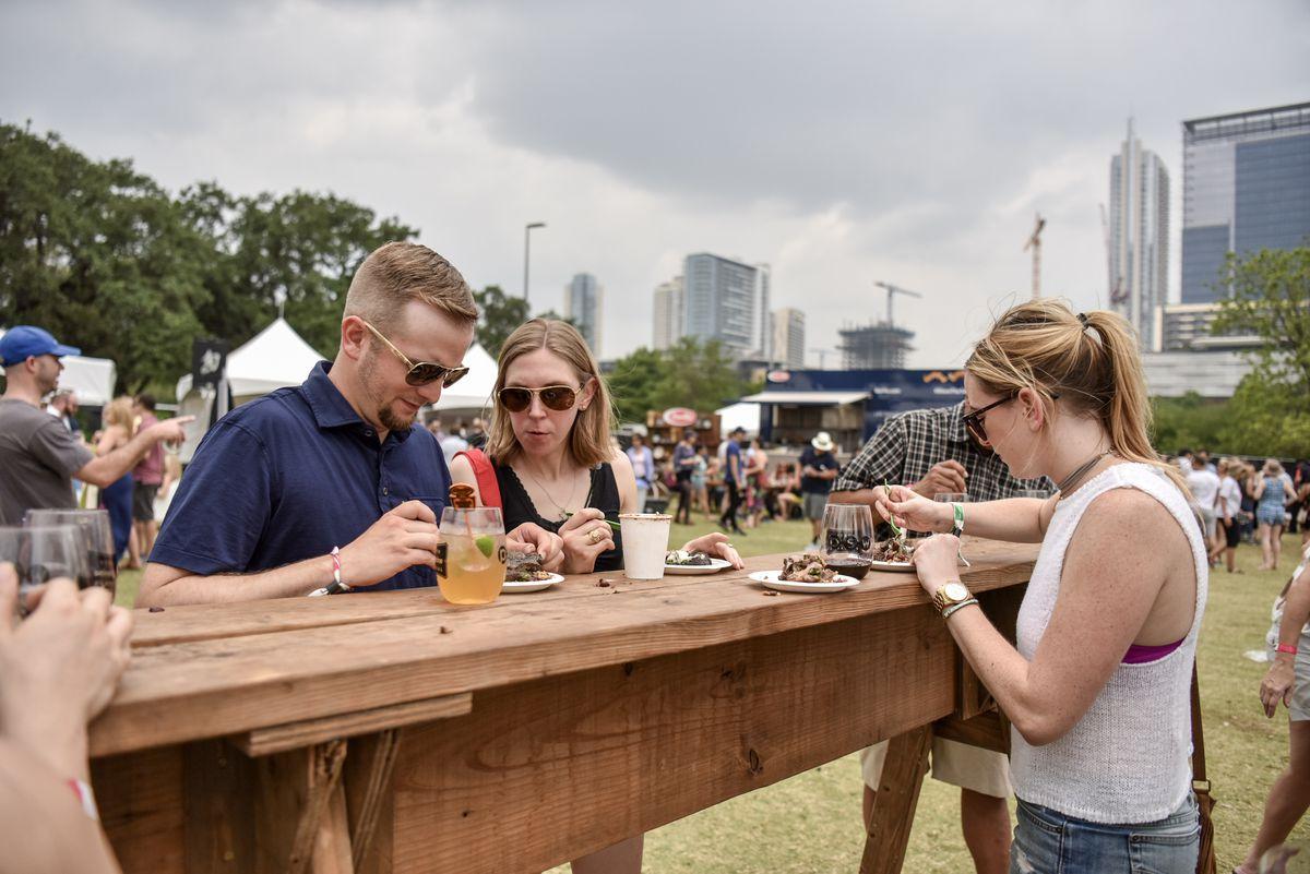 Austin Food & Wine festival attendees