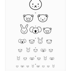 Animal Eye Chart by Leah Dumigan, $35