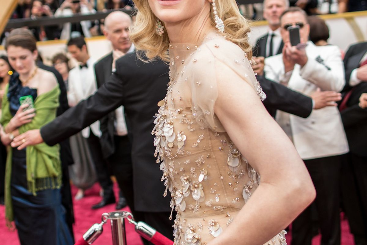 Cate Blanchett at the 2014 Oscars, via Getty