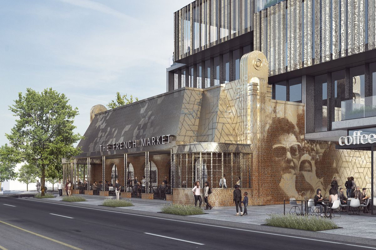 Rendering of the new French Market Place development in West Hollywood