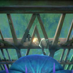 <em>Luigi's Mansion 3</em> 7F blue gem location in the atrium (or the ??? just outside of it).