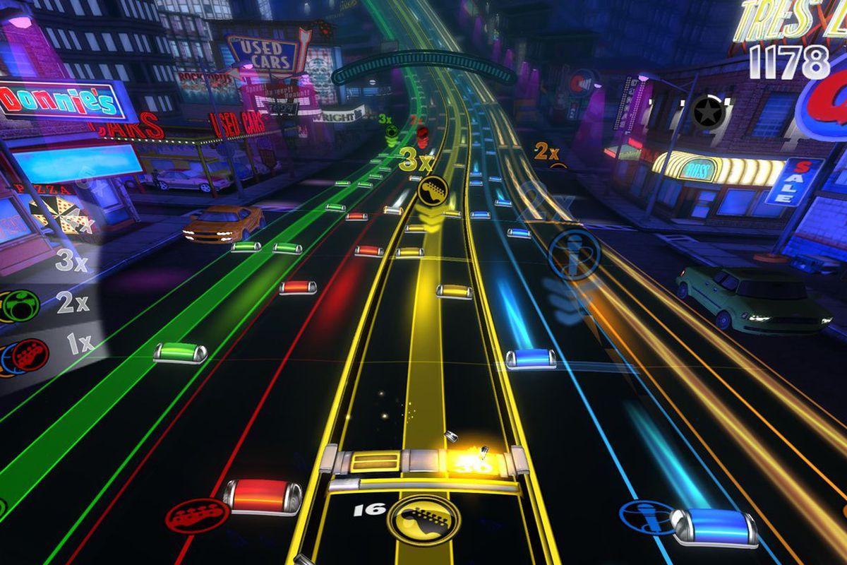 Rock Band Blitz - five lanes
