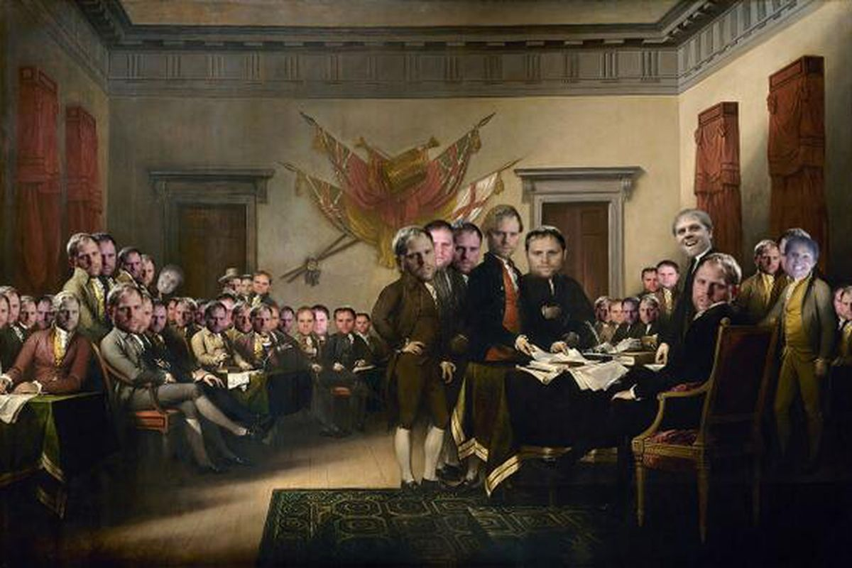 The Signing of the Declaration of Kesselpendence (1781)