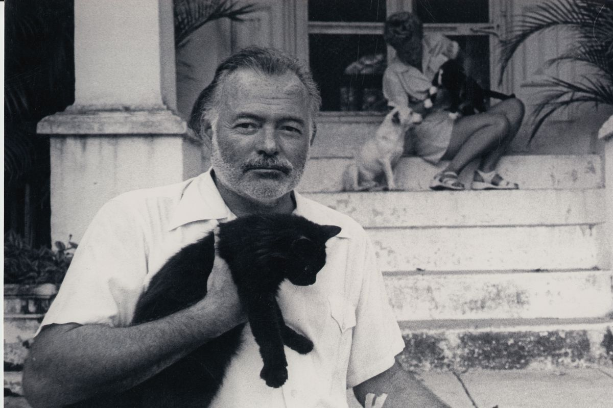 Ernest Hemingway at his home in Cuba.