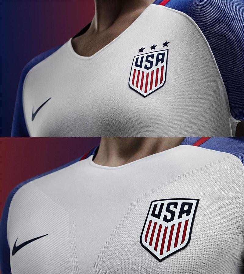 nike 2016 us kits neckline