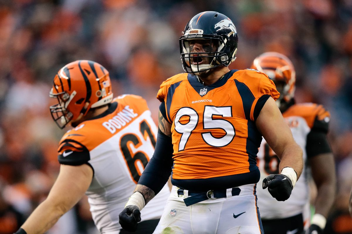 Report Defensive end Derek Wolfe likely heading to be placed on