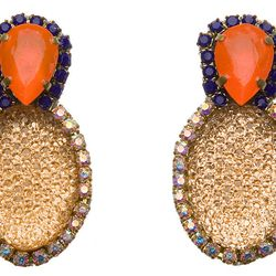 """<strong>Doloris Petunia</strong> Swarvoski Crystal Bubble Earrings at <strong>M. Flynn</strong>, <a href=""""http://mflynnjewelry.com/swarovski-crystal-bubble-earrings/p/23780/ac/d/?action=d&cPath=108"""">$110</a>"""