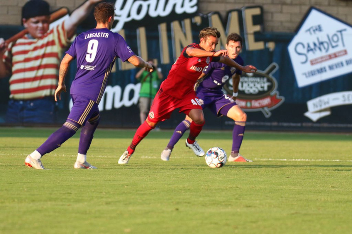 USL Photo - Toronto FC II's Tsubasa Endoh was a constant menace against Louisville City FC in a 4-1 in for Toronto at Louisville Slugger Field