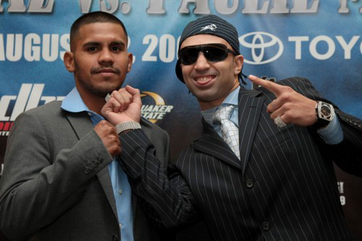 Paulie Malignaggi (right) feels he will be fighting an unfair bout this Saturday with Juan Diaz. His list of gripes is extensive.