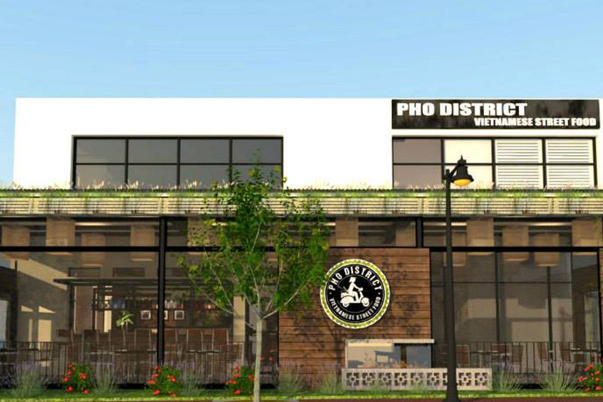 A rendering of the future Pho District.