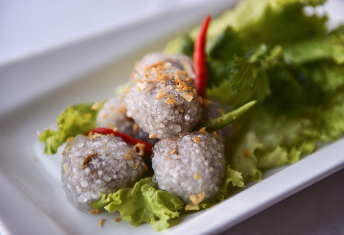 Tapioca skin dumplings from Baan Thai