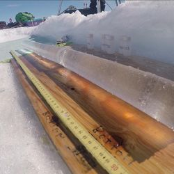 Several Utah scientists flew to the Greenland ice sheet, which is 1,500 miles long and nearly 700 miles wide. The Utah team joined other scientists who lived in tents on the ice while conducting their studies. An ice core pulled from the ice sheet.