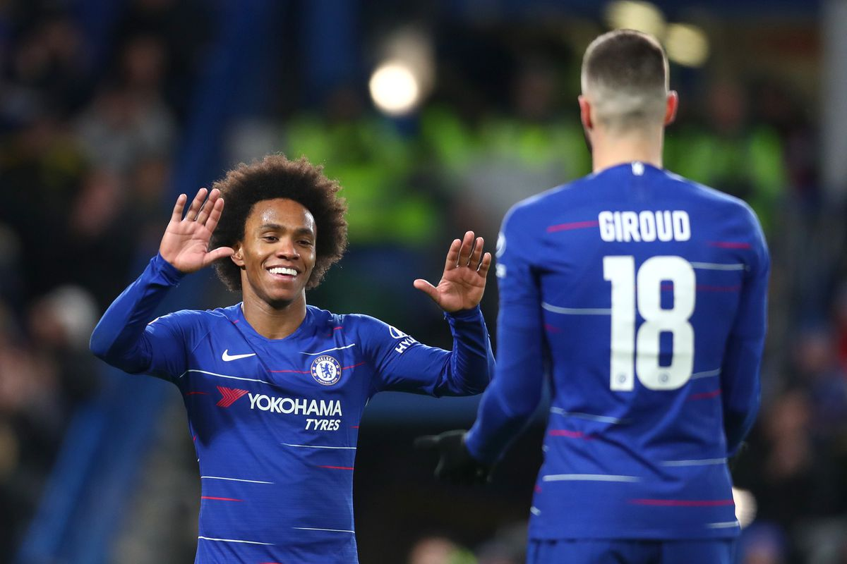 Image result for willian and giroud
