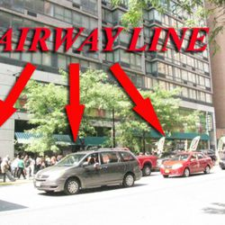 The line stretched all the way to Second Avenue.
