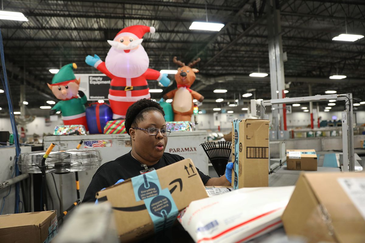 U.S. Postal Service Processing Center Ramps Up Operations For Holiday Season