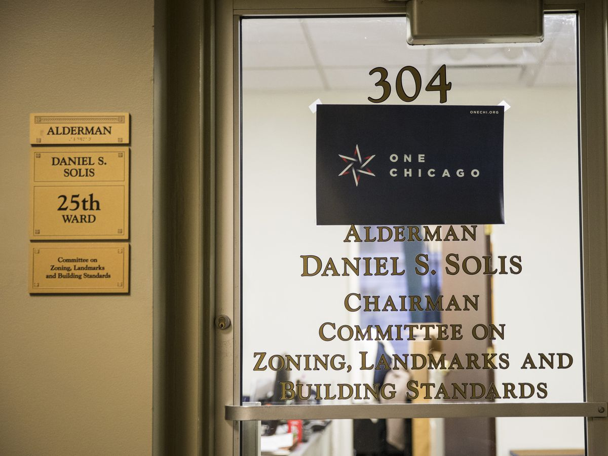 The ward office for Ald. Daniel Solis (25th) at City Hall. | Ashlee Rezin/Sun-Times