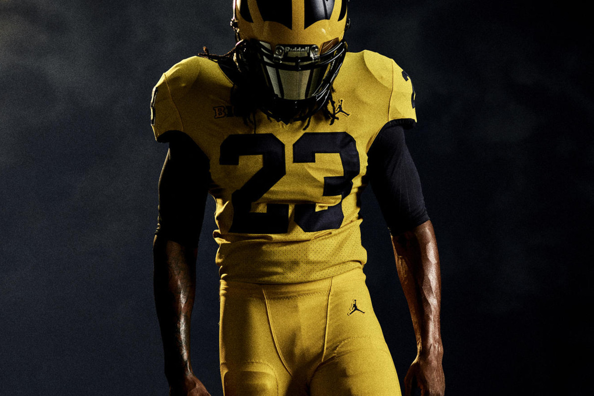 a88c018abf2867 Michigan officially announces all-Maize jerseys for Florida game ...