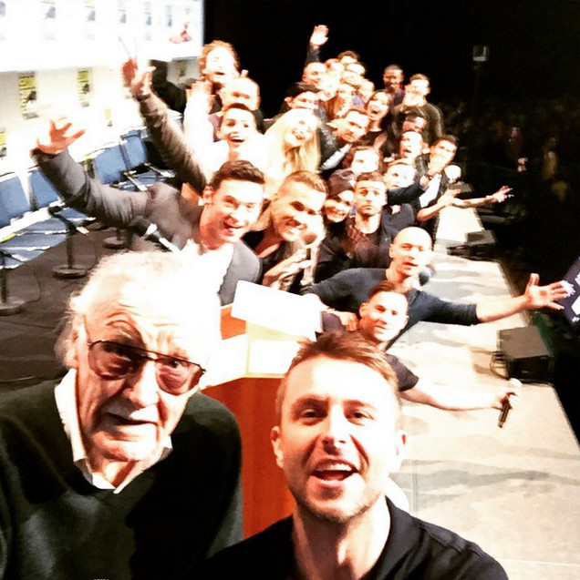 Super selfie packed with cast of four Marvel movies and