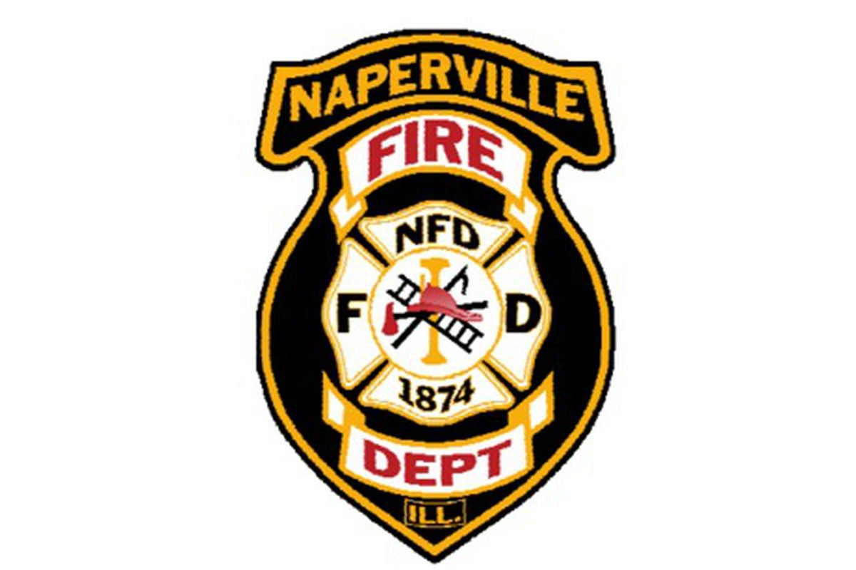 A fire was reported at a strip mall in west suburban Naperville.
