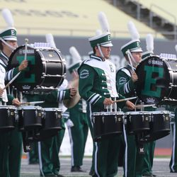 The Eastern Michigan band at halftime