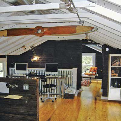 attic turned into office