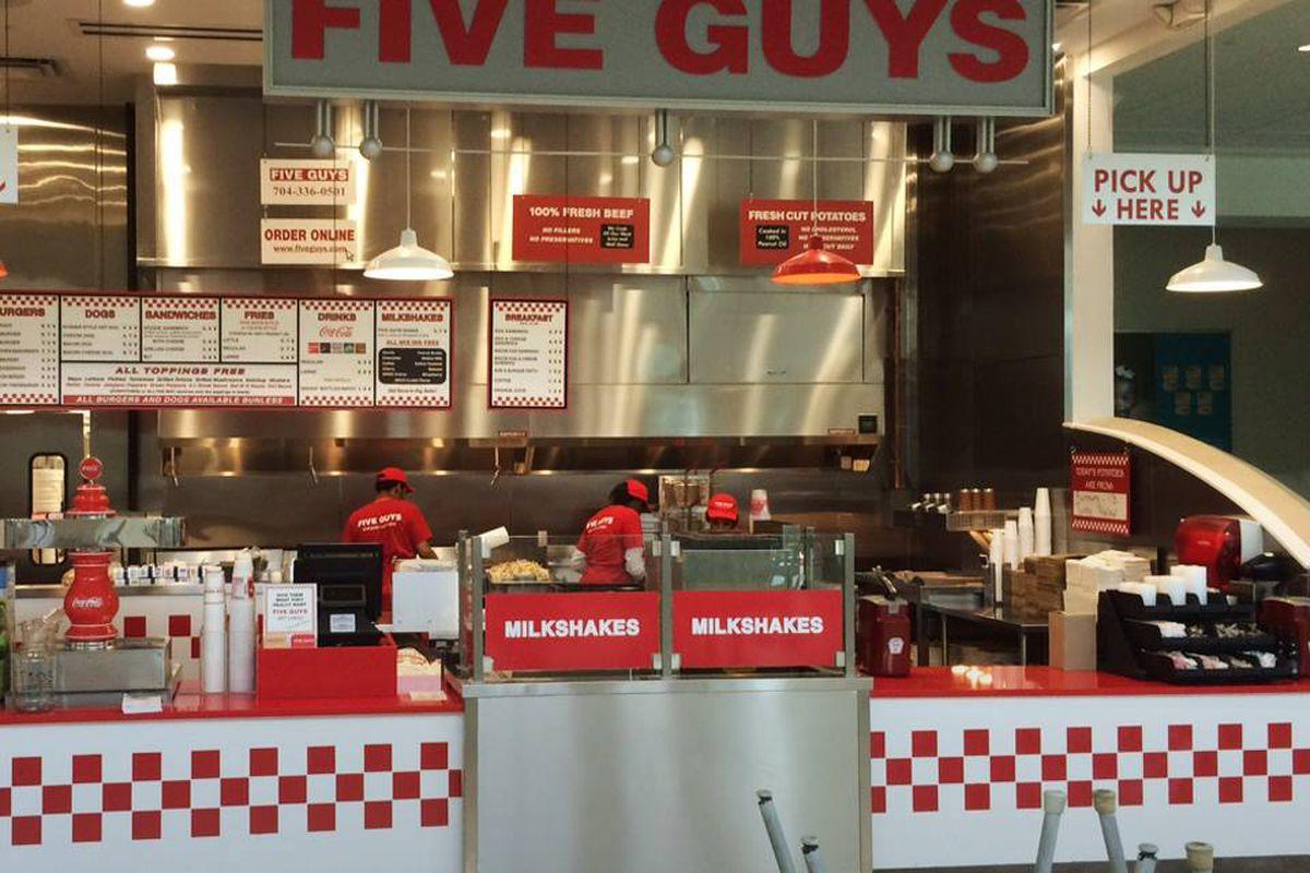 Five Guys in Charlotte, N.C.
